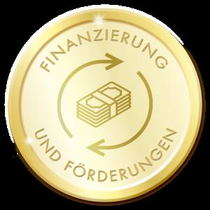 Siegel, rund, gold, Finanzierung und Förderungen, Triple-A AG